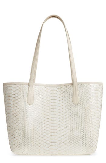 Nancy Gonzalez Small Erica Genuine Python & Crocodile Tote - Metallic