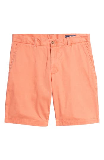 Men's Vineyard Vines 9 Inch Stretch Breaker Shorts, Size 28 - Orange