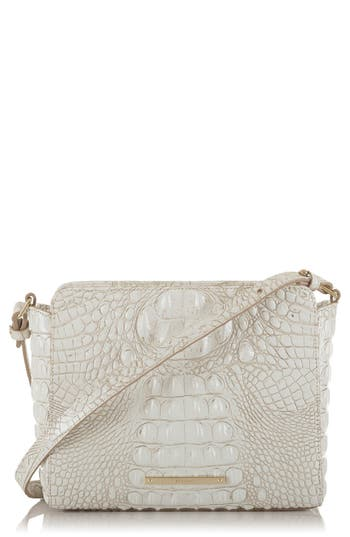 Brahmin Melbourne Carrie Leather Crossbody Bag - White