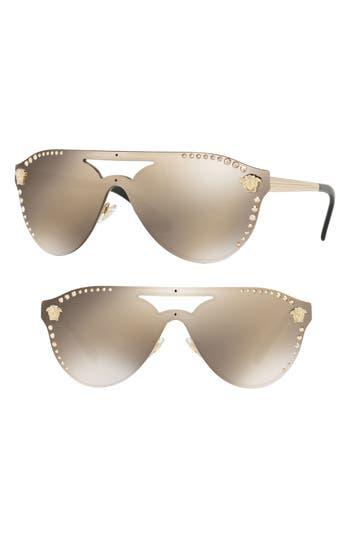 Versace Medusa 60mm Crystal Shield Sunglasses