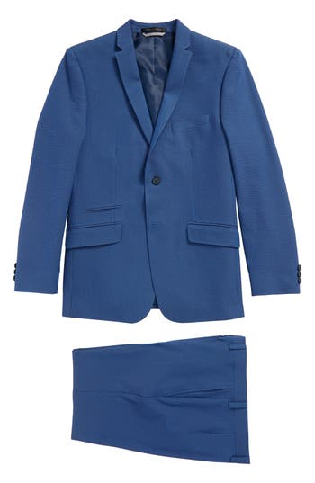 Boys Andrew Marc Skinny Fit Suit