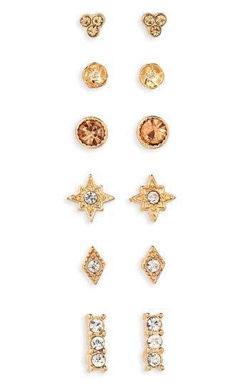 Women's Bp. 6-Pack Crystal Earrings