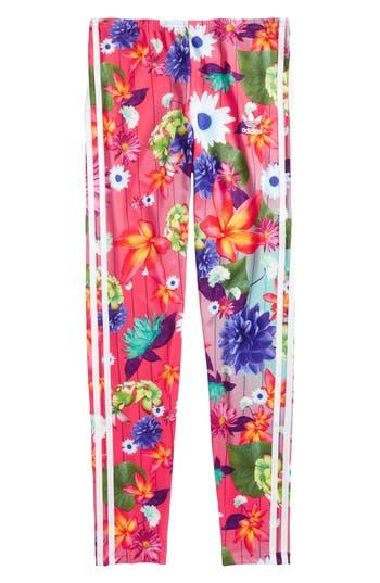 Girl's Adidas Graphic Aop Leggings, Size L (14) - Pink