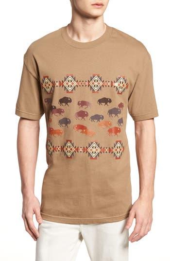 Pendleton Graphic T Shirt 61275 Tan Prairie Rush Hour