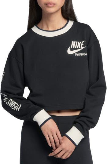 Nike Reversible Crop Sweatshirt, Black