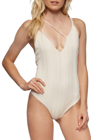 Tavik Coppola One-Piece Swimsuit, Beige