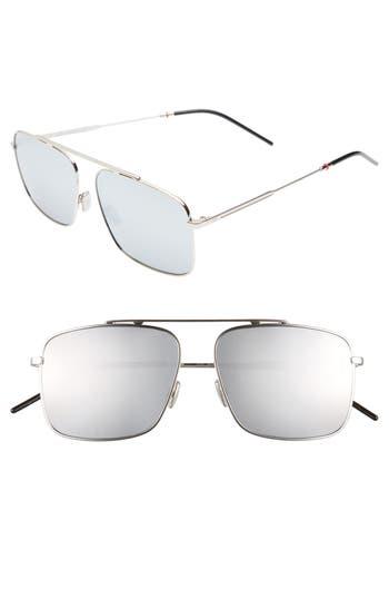 Dior 58mm Mirrored Navigator Sunglasses