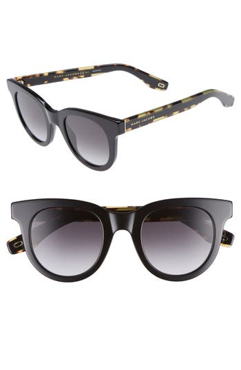 MARC JACOBS 47mm Round Lens Cat Eye Sunglasses