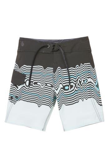 Boys Volcom Lido Vibes Mod Board Shorts Size 7X  Grey