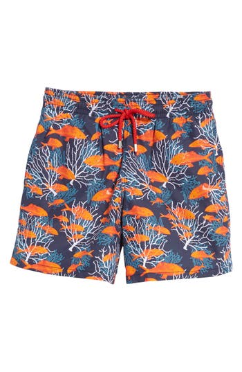 Vilebrequin Depth Of Seas Print Swim Trunks, Blue