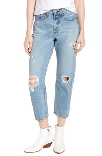 Levi's® Wedgie Ripped Straight Leg Jeans