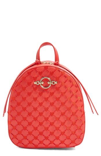 Topshop Sweetheart Beaded Backpack - Red