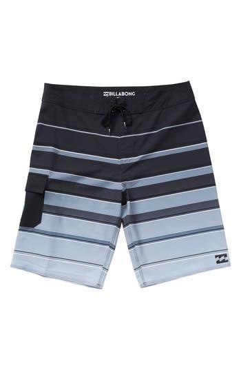 Boys Billabong All Day X Stripe Board Shorts