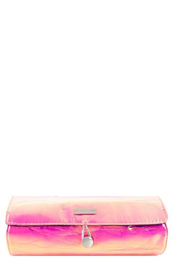 SkinnyDip Pink Iridescent Brush Roll