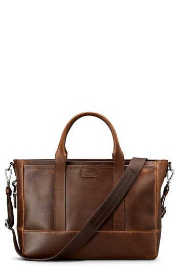 Shinola Navigator Leather Briefcase
