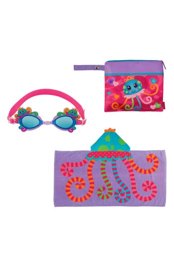 Girls Stephen Joseph Bag Hooded Towel  Goggles