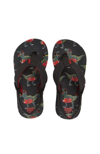Toddler Boys Reef Ahi Flip Flop Size 1112 M  Black