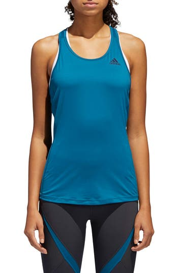 Adidas Performer Baseline Tank Top, Green