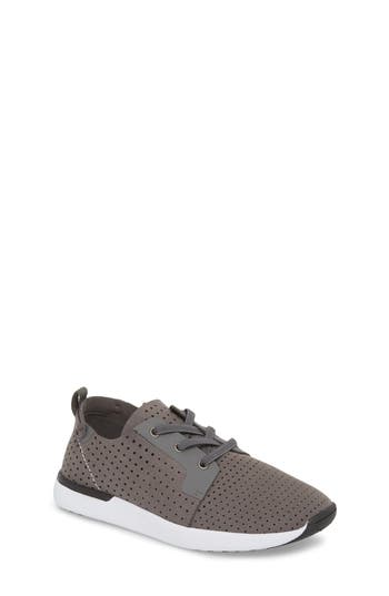 Boys Steve Madden Brixxon Perforated Sneaker Size 4 M  Grey