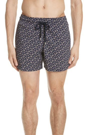 Vilebrequin Micro Turtle Superflex Swim Trunks, Blue
