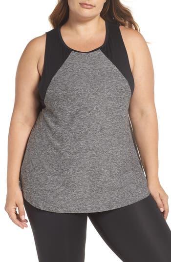 Plus Size Beyond Yoga Lightweight Open Up Tank, Black