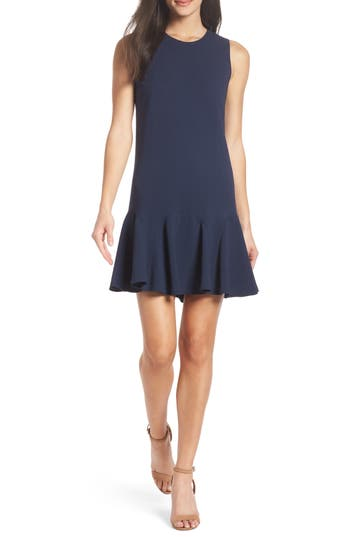 Charles Henry Gored Tank Dress, Blue