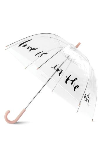 kate spade new york polka dot clear umbrella