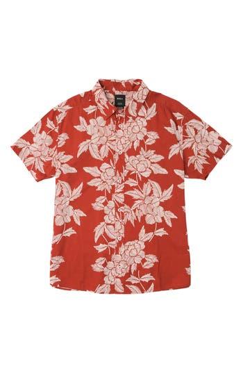 Boys Rvca Bora Floral Woven Shirt
