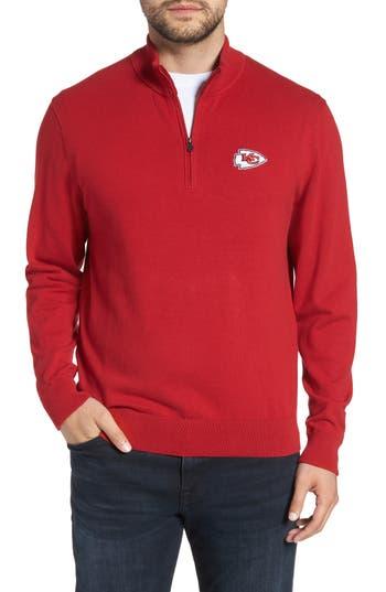 Cutter & Buck Kansas City Chiefs - Lakemont Regular Fit Quarter Zip Sweater