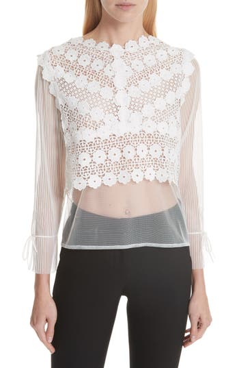 TULLE LACE TOP