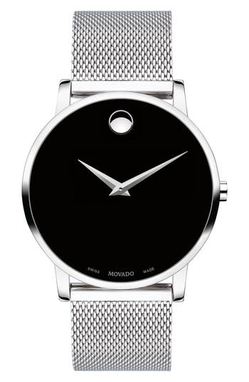 Movado Museum Mesh Strap Watch, 40mm