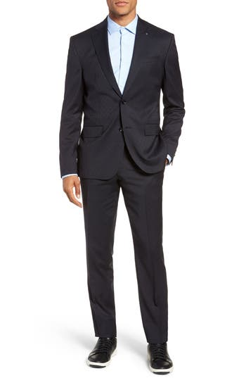 Ted Baker London Roger Slim Fit Stripe Wool Suit