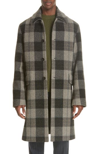 Acne Studios Check Wool Overcoat