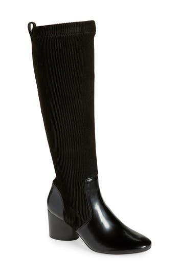 Tory Burch Rowen Knee High Ribbed Sock Boot