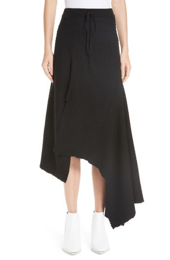 Marques'Almeida Draped Wool Sweater Skirt