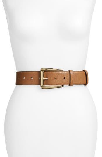 MICHAEL Michael Kors Calfskin Leather Belt