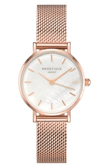 Rosefield Small Edit Stainless Steel Strap Watch, 26mm
