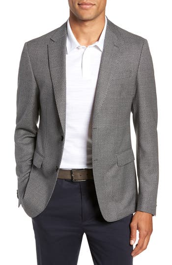NOBIS TRIM FIT HOUNDSTOOTH WOOL SPORT COAT