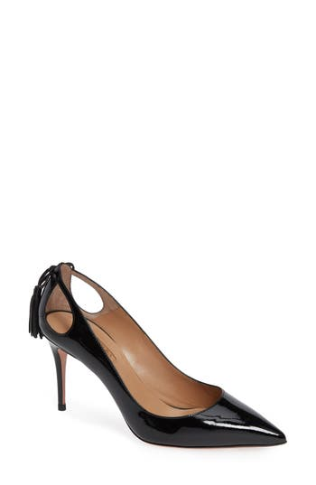 AQUAZZURA FOREVER MARILYN TASSEL POINTY TOE PUMP