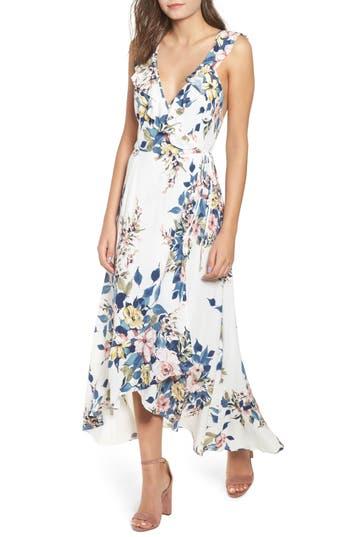 Leith Floral Print Wrap Dress