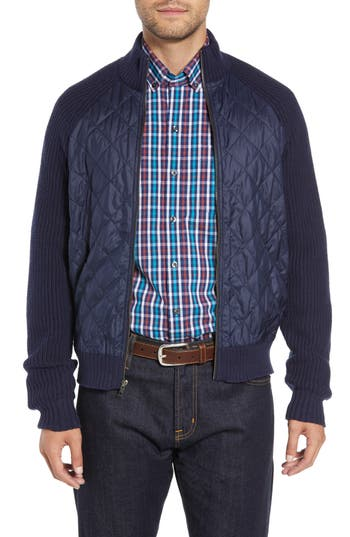 Cutter & Buck Quilted Zip Sweater