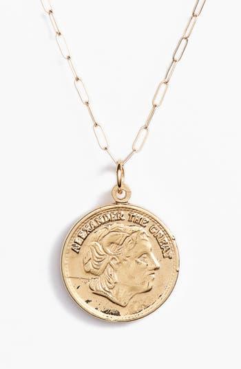 Bracha Alexander Coin Pendant Necklace