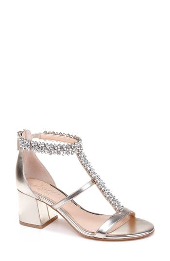 Jewel Badgley Mischka Janica Block Heel Sandal