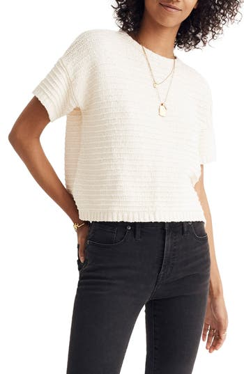 MADEWELL LACE BACK SWEATER TEE
