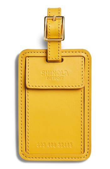 Shinola Leather Luggage Tag