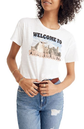 MADEWELL WELCOME TO THE BADLANDS WHISPER COTTON CREWNECK TEE