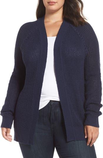 Caslon® Braided Shoulder Cardigan