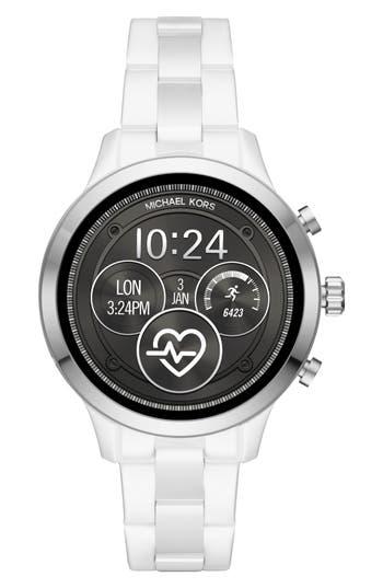 Michael Kors Access Runway Smart Ceramic Bracelet Watch, 44mm