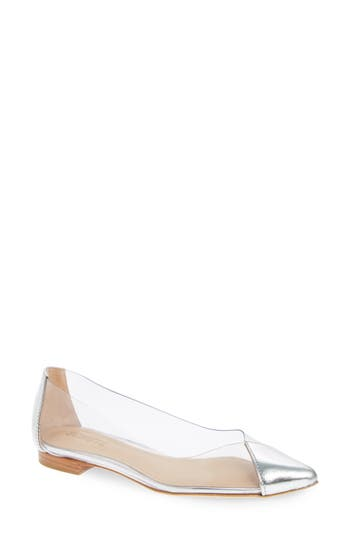 Schutz Clearly Pointy Toe Flat