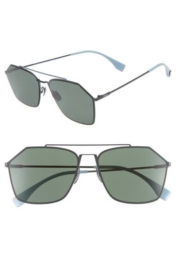 Fendi 59mm Polarized Navigator Sunglasses